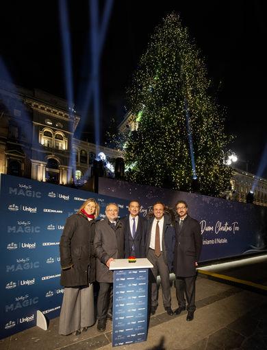 Urban Up Unipol e Comune di Milano - Cerimonia di accensione del Christmas Tree
