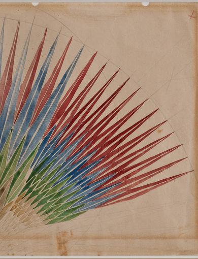 Giacomo Balla - Studio per compenetrazione iridescente (dai Taccuini di Düsseldorf), 1912 - matita e acquerello su carta - 177 x 188 mm - GAM – Galleria Civica d'Arte Moderna e Contemporanea, Torino