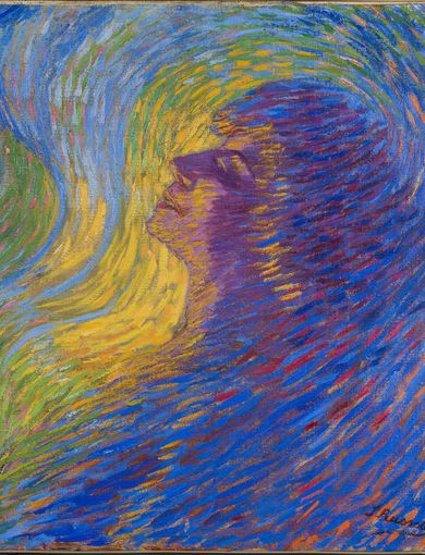 Luigi Russolo - Profumo, 1910 - olio su tela - 65.5 x 67.5 cm - Mart, Museo di arte moderna e contemporanea di Trento e Rovereto Collezione / Collection VAF - Stiftung
