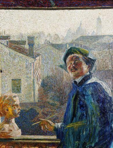 Umberto Boccioni_Ritratto di scultore_1907